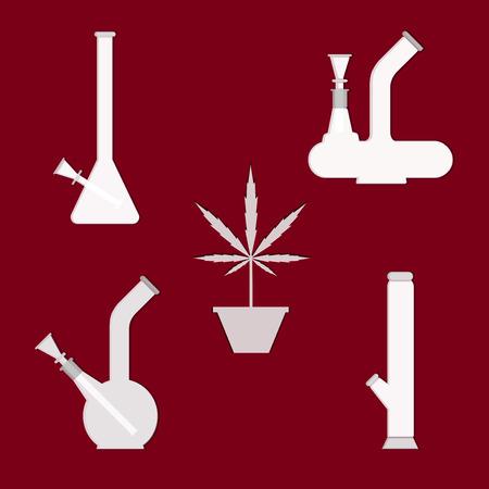 inhale: Marijuana equipment.