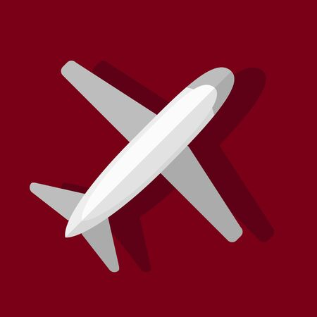 passenger plane: Airplane. illustration in flat style. Top view