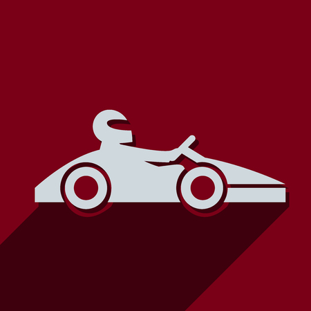 go kart: Kart with driver icon.