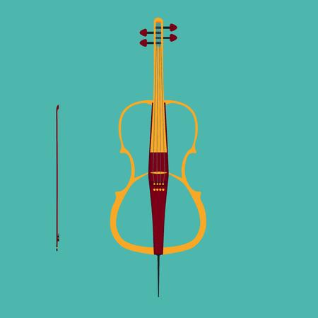 pickups: Violoncello elettrico con l'arco.