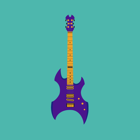 heavy metal: Heavy metal guitar. Illustration