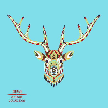 tatoo: Zentangle stylized deer head. Animal collection. Hand drawn doodle. Ethnic patterned vector illustration. African, indian, totem, tattoo, hipster design. Sketch for tattoo, posters, prints or t-shirt. Illustration