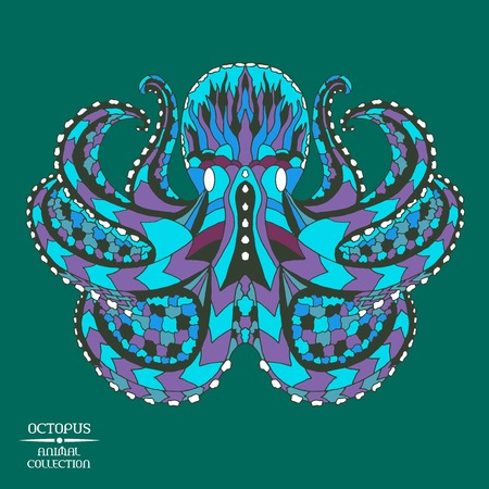 tatoo: Zentangle stylized octopus. Animal collection. Hand drawn doodle. Ethnic patterned vector illustration. African, indian, totem, tattoo design. Sketch for tattoo, posters, prints or t-shirt.