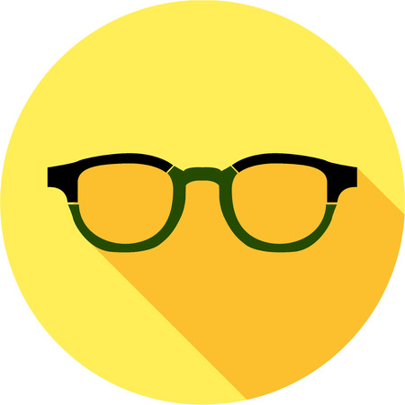 eye protectors: Super hero mask glasses collection. Flat style avatar icon. Colorful vector illustration eps 8. Man and women, retro, wayfarer, aviator, geek, hipster eyeglasses frames in different character colors.