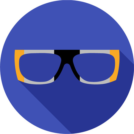 eye protectors: Super hero mask glasses collection. Flat style avatar icon. Colorful vector illustration