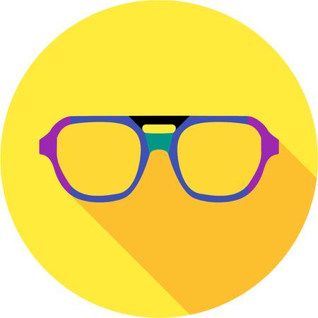 wayfarer: Super hero mask glasses collection. Flat style avatar icon. Colorful vector illustration
