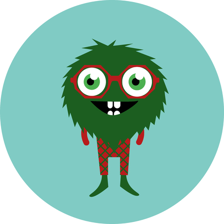freaky: Freaky cute retro hipster alien monsters. Vector illustration EPS 8. Illustration