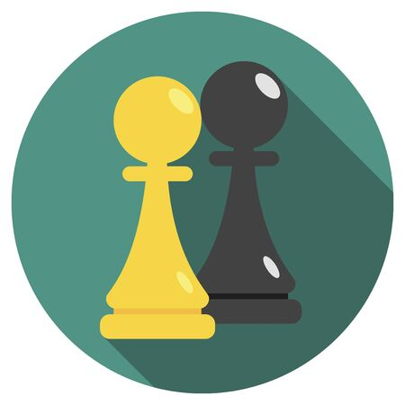 Vector illustration of chess piece. Pawn.