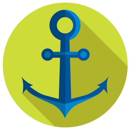 anchor: Nautical anchor. Vector illustration in flat style.