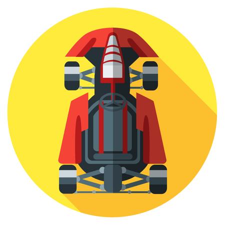 carting: Icono de Kart. Ilustraci�n del vector en estilo plano. Vectores