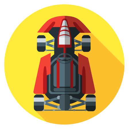 kart: Kart icon. Vector illustration in flat style.