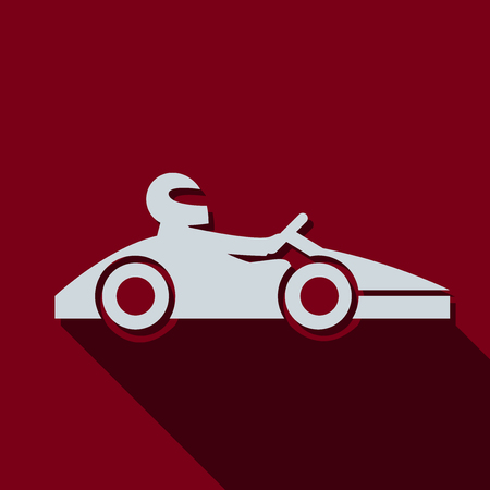 kart: Kart with driver icon. Vector illustration Illustration