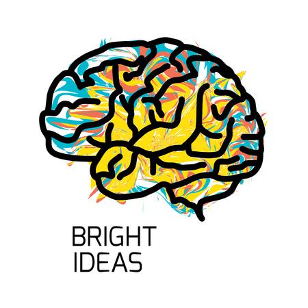creativity: Brain icon isolated on white background.