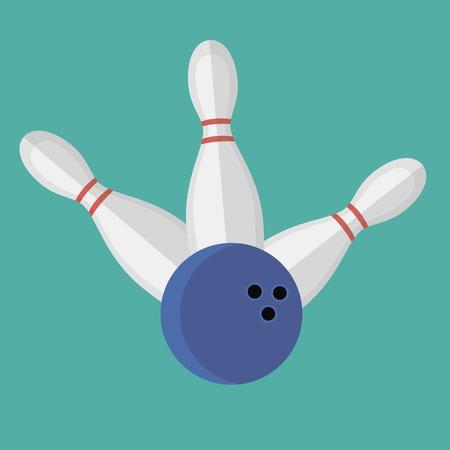 alleys: Vector illustration of bowling