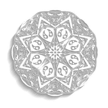 an amulet: Mandala. Floral ethnic abstract decorative elements. Hand drawn background. Islamic, arabic, indian, zentangle, tribal, african motif. Texture for coloring page, tattoo, mehendi, print, card, t-shirt.