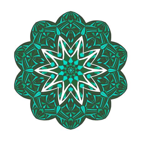 mehendi: Mandala - Floral ethnic abstract decorative elements Illustration