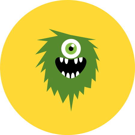 scary eyes: set of cartoon cute monsters and aliens
