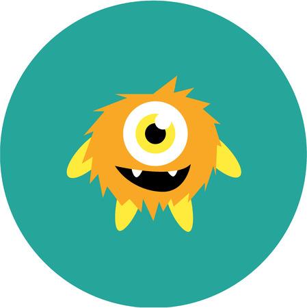 caras graciosas: conjunto de monstruos de dibujos animados lindo y extranjero Vectores
