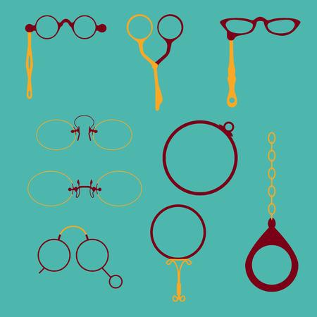 Eyeglasses frames set Illustration