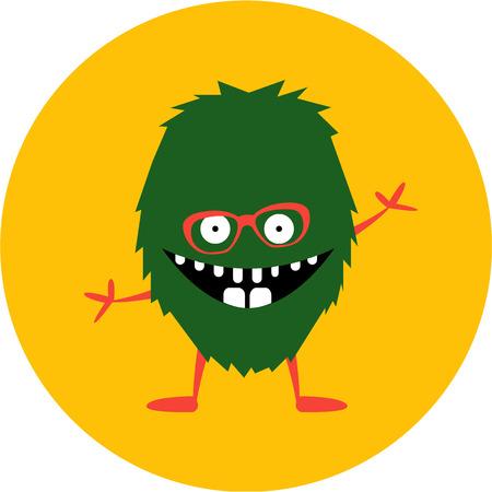 monster face: cartoon cute monster alien