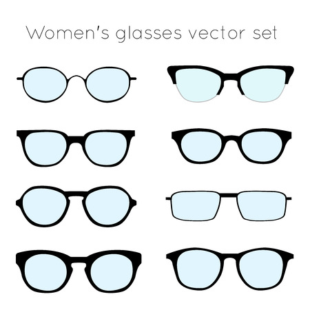 16dc77d005e Vector - Vector set of different glasses on white background. Retro