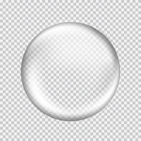 pelota: Gran blanco esfera de cristal transparente con brillos y luces. Perla blanca. Ilustraci�n vectorial, contiene transparencias, gradientes y efectos