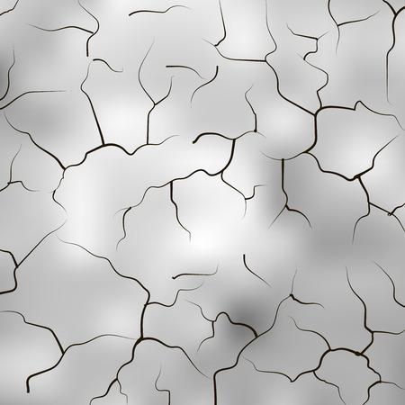 Cracked hole background with space for text. Hole cracks on the wall. Broken concrete template for a content. Cleft, crushed, flaw vector illustration. Abstract pattern for your design and business. Illustration