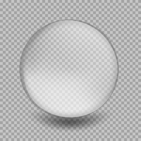 transparent 3d: Big white transparent glass sphere with glares and highlights. White pearl. Vector illustration, contains transparencies, gradients and effects Illustration