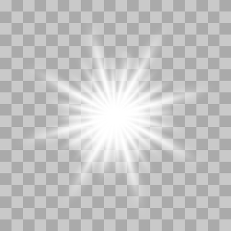 벡터 빛나는 빛 버스트와 투명 한 배경에 반짝임. 투명 한 그라데이션 별, 번개 플레어입니다. 마술, 밝고 자연스러운 효과. 디자인 및 비즈니스에 대