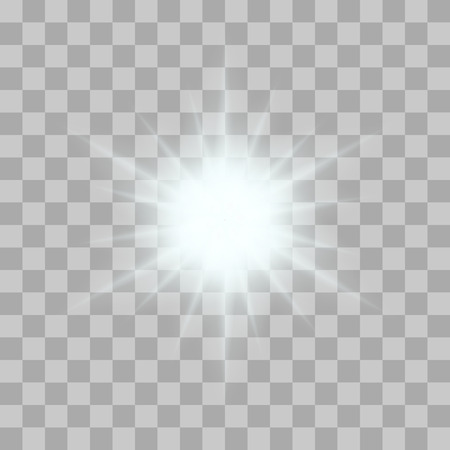 Vector glowing light bursts with sparkles on transparent background. Transparent gradient stars, lightning flare. Magic, bright, natural effects. Abstract texture for your design and business.