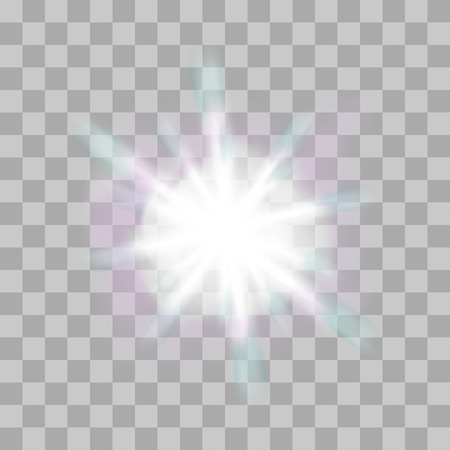 flare: Vector glowing light bursts with sparkles on transparent background. Transparent gradient stars, lightning flare. Magic, bright, natural effects. Abstract texture for your design and business.