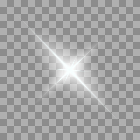 starlet: Vector glowing light bursts with sparkles on transparent background. Transparent gradient stars, lightning flare. Magic, bright, natural effects. Abstract texture for your design and business.