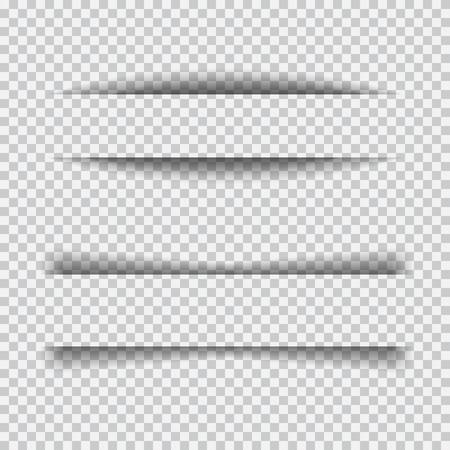 blanco: establece transparente efecto realista de papel sombra. Elemento para la publicidad y el mensaje promocional aislado en el fondo transparente. Resumen ilustración para su diseño y los negocios