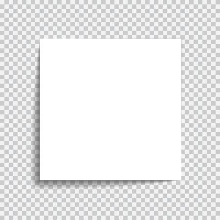 Trasparente effetto carta ombra realistico. Web banner. Elemento per la pubblicità e il messaggio promozionale isolato su sfondo trasparente. Illustrazione astratta per la progettazione e le imprese
