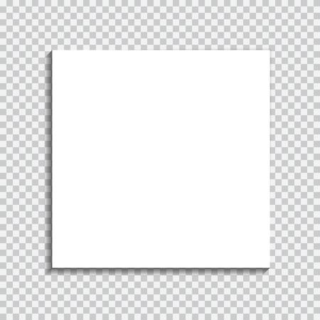 Transparante realistische papier schaduw effect. Web banner. Element voor reclame en promotionele boodschap op een transparante achtergrond. Abstract vector illustratie voor uw ontwerp en bedrijf