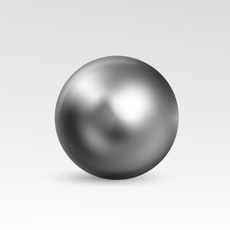 perl: ball realistic isolated on white background. Spherical 3D orb with transparent glares and highlights for decoration. Jewelry gemstone. Illustration for your design and business.