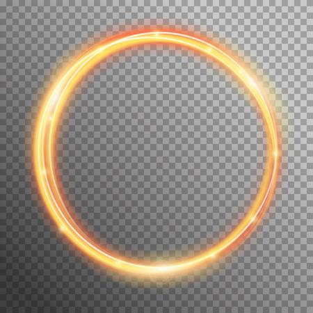 Vector brand fonkeling spiraal golf lijn met vliegende sprankelende flitslichten. Bokeh glitter magie gloeiende licht swirl trail spoor effect op transparante achtergrond. Abstracte textuur voor het ontwerp en het bedrijfsleven