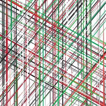green and black: diagonal red green black white overlapping color lines pattern background.
