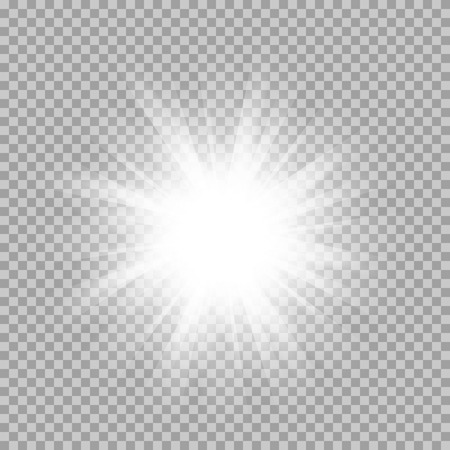 set of glowing light bursts with sparkles on transparent background. Transparent gradient stars, lightning flare. Magic, bright, natural effects. Abstract texture for your design and business. Vettoriali