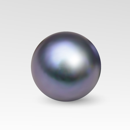 perl: Pearl realistic isolated on white background. Spherical 3D orb with transparent glares and highlights for decoration. Jewelry gemstones. Illustration for your design and business. Illustration