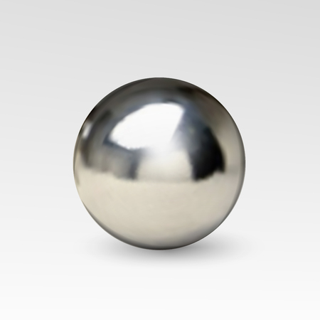 pearl: ball realistic isolated on white background Illustration