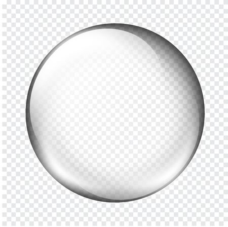 white transparent glass sphere with glares and highlights.