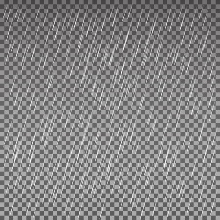 Rain isolated on a transparent background. Vector texture. Illustration for your design and business