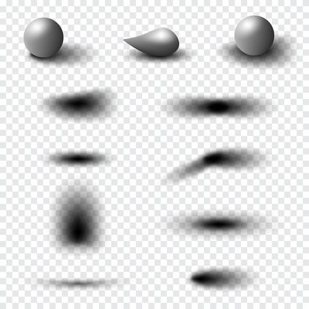 Transparent realistic shadow effect set. Web banner. 向量圖像