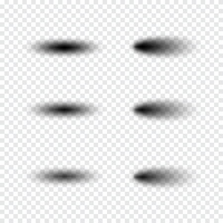 Transparent realistic shadow effect set. 向量圖像