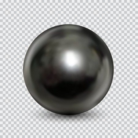 Steel ball realistic isolated on white backdrop Ilustrace
