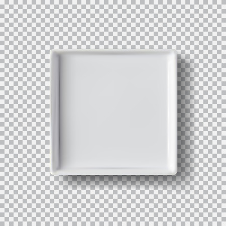 White plate isolated on transparent background.