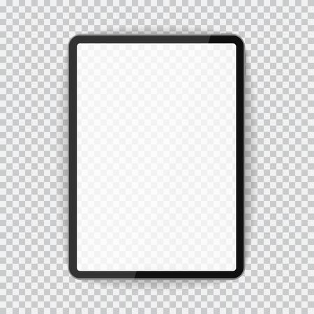 Pc computer with blank screen tablet vector mockup