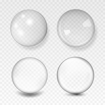 sphère en verre transparent blanc avec éclats et reflets