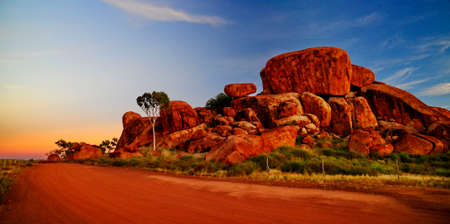 the outback: Devil marbles Australia